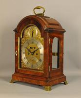 Fine Mahogany Verge Triple Pad Top Bracket Clock - Martineau, London (4 of 13)