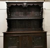Early 18th Century Carved Oak Buffet Sideboard Dresser (7 of 14)