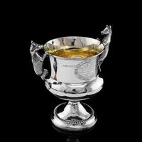 Georgian Solid Silver Cup / Goblet / Trophy with Napoleonic Military interest - Solomon Hougham 1812 (11 of 24)