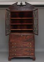 Superb Quality 18th Century Mahogany Bureau Bookcase (21 of 23)