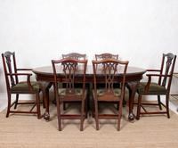 Oak Dining Table & 6 Chairs Telescopic 19th Century (14 of 19)