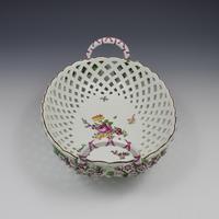 Fine Large Chelsea Red Anchor Porcelain Basket c.1750-1758 (5 of 18)