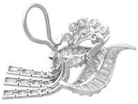 5.90ct Diamond & Platinum Tassel Earrings - Vintage c.1950 (6 of 9)