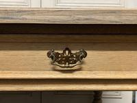 Large Oak 6 Drawer Writing Table (4 of 16)