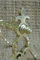 Quality Aesthetic Movement Brass Fire-Dogs Fire Iron Rests Andirons c.1880 (6 of 7)