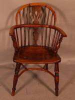 Yew Wood Low Back Windsor Chair Rockley Maker (2 of 10)