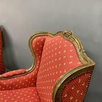 Pair of French Painted Wing Armchairs (8 of 8)