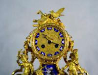 Fine Ormolu Porcelain Cherub Mantle Clock (5 of 10)