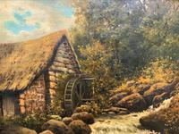 H Sinclair Jackson Superb 19th Century Watermill Landscape Oil Painting (10 of 14)
