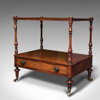Antique Two Tier Side Table, Mahogany Whatnot, Regency Canterbury, Display Stand (3 of 12)