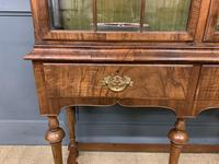 Burr Walnut Double Dome Topped Display Cabinet (10 of 18)