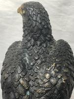 Fine French Vintage 20th Century Gilt Bronze Eagle on Marble Base Sculpture (23 of 26)