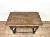 Antique Georgian Oak Side Table (4 of 10)