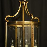 French Pair of Bronze Antique Hall Lanterns (2 of 10)