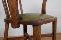 Vintage 1930s Oak Office Chair With Fresh Leather Seat x 2 (8 of 11)