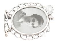 Sterling Silver Tennis Photograph Frame - Antique Victorian 1895 (6 of 9)