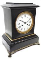 Antique French Slate & Ormolu Mantel Clock striking 8 day (8 of 11)