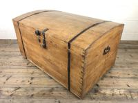 Large Antique Pine Dome Top Trunk (7 of 9)