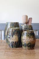 Scottish Pottery Slipware Barrel Storage Jars x4 (25 of 35)