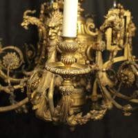 French Gilded Bronze 12 Light Antique Chandelier (6 of 12)