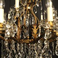 Italian Gilt & Crystal 22 Light Antique Chandelier (9 of 10)