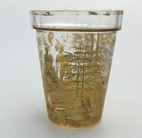 An Extremely Rare & Exceptional St Hubert Gilt Glass Beaker C.18th/early 19thc (7 of 10)