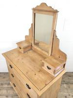 Antique Pine Dressing Table Chest with Drawers (9 of 11)
