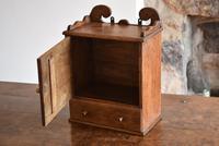 Small Rustic Antique Oak Wall Cupboard (4 of 10)