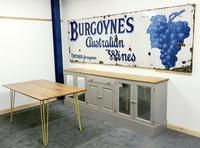 Rare Late Victorian Enamel Burgoynes Australian Wine Sign Extremely Large (4 of 10)