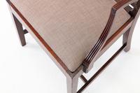 George III Mahogany 'Sheraton Style' Elbow Chair (4 of 7)