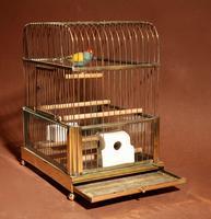 Brass Very Decorative Bird Cage c.1920 (7 of 8)