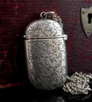 Antique Victorian silver vesta case (4 of 14)