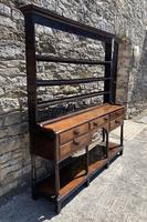 Antique Georgian Oak Potboard Dresser (4 of 28)