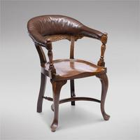 Victorian Hardwood Desk Chair (2 of 4)