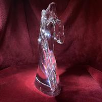 "Daum ""tete de Cheval"" Crystal Horse Head Sculpture c.1960 (2 of 9)"