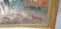 Large French Scene Oil Painting 'Burnett' (3 of 3)