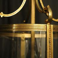 French Pair of Bronze Antique Hall Lanterns (4 of 10)