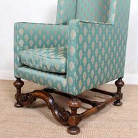 Lounge Chair Armchair Walnut Wingback Edwardian (9 of 12)