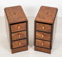 Stylish Pair of Burr Walnut Art Deco Bedside Cabinets (2 of 7)