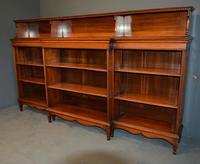 Walnut Breakfront Open Bookcase (3 of 3)