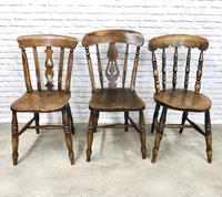 Interesting Assortment of 6 Windsor Kitchen Chairs (6 of 8)