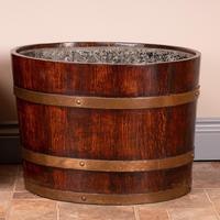 Pair Of Large Oval Oak Brass Bound Log Buckets (4 of 21)