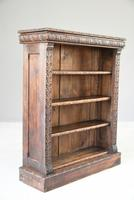 Victorian Carved Oak Bookcase (10 of 11)