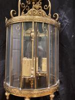 Pair of French Triple Light Circular Lanterns (5 of 11)