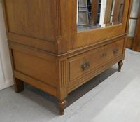 Victorian Arts & Crafts Golden Oak Mirrored Wardrobe (3 of 9)