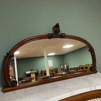Victorian Mahogany Antique Overmantle Mirror (2 of 7)