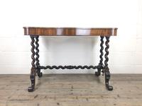 Victorian Rosewood Stretcher Table / Centre Table (12 of 15)