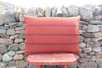Swedish 'Folk Art' Vintage Large Woven Röllakan Cushion c.1930 (4 of 26)