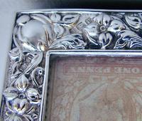 Art Nouveau Silver Single Stamp Box by Edward Souter Barnsley, Birmingham 1902 (4 of 5)