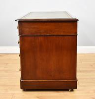 19th Century Victorian Mahogany Pedestal Writing Desk (8 of 10)